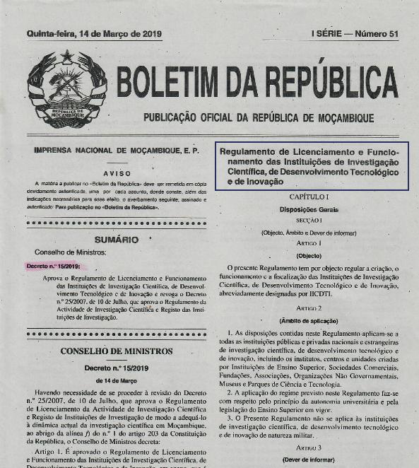 Decreto n. 15/2019